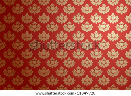 Vector illustration of a red glamour pattern - stock vector