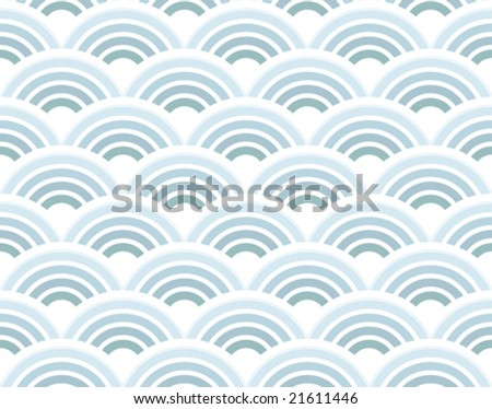 Vector illustration of a retro half circles seamless pattern background wallpaper. - stock vector