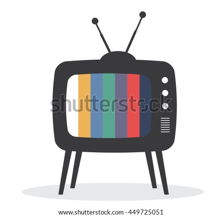 vector illustration of a retro TV isolated on white background