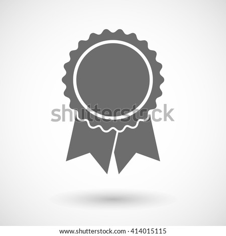 Vector illustration of  a ribbon award