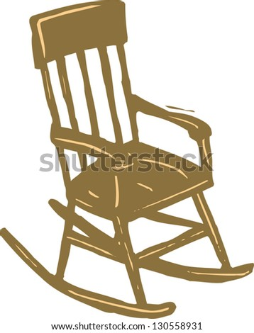 Vector illustration of a rocking chair
