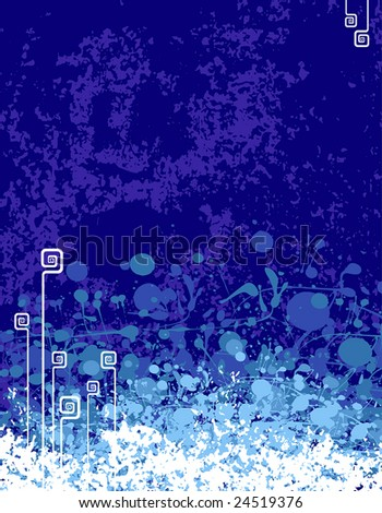 vector illustration of a 70s ragged background ready for your text - stock vector