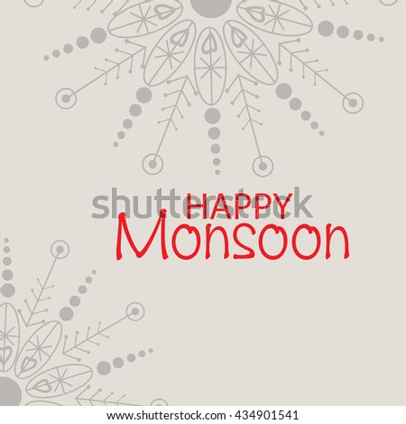 Vector illustration of a sale background for Happy Monsoon Season.