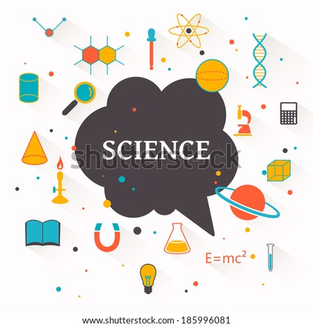 Vector Illustration of a Science Background - stock vector