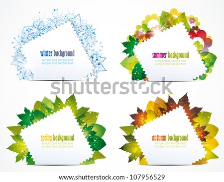 vector illustration of a seasons of the year - stock vector