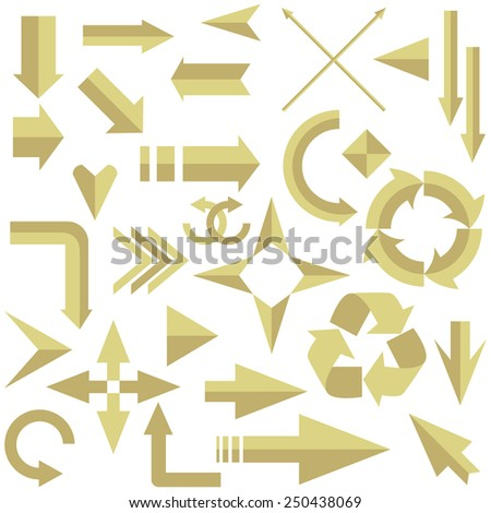 Vector illustration of a set of arrows