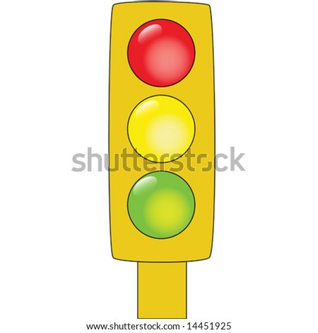 Vector illustration of a set of traffic lights
