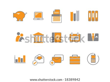 Vector illustration of a set of various icons and symbols - stock vector