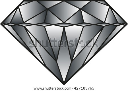 Vector illustration of a shaded diamond - stock vector