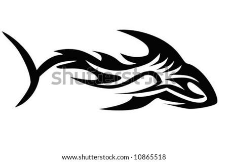 vector illustration of a shark, EPS - stock vector