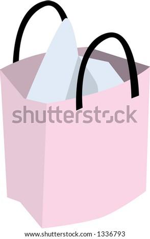 Vector Illustration of a Shopping Bag - stock vector