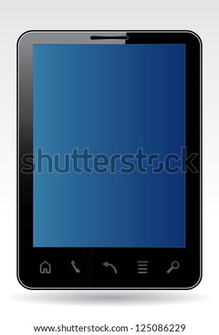 Vector illustration of a smartphone.