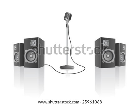 Vector illustration of a stage set - stock vector