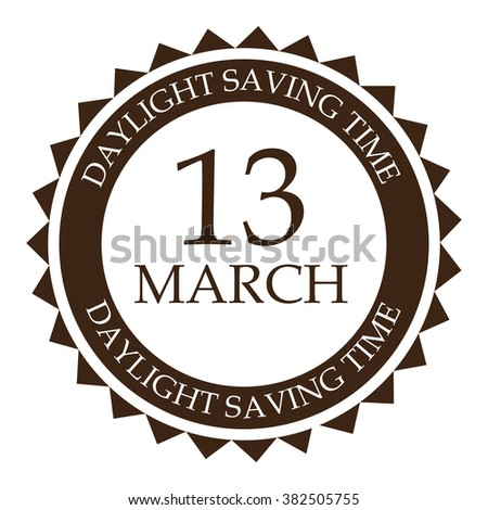 Vector illustration of a stamp for Daylight Saving Time. - stock vector