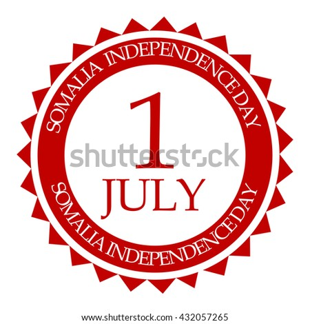 Vector illustration of a stamp Somalia independence day. - stock vector