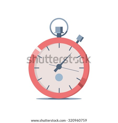 Vector illustration of a stopwatch for sports. Icon for web site - stock vector