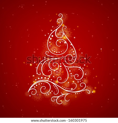 Vector Illustration of a Stylized Christmas Tree - stock vector