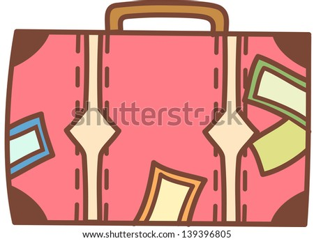 Vector illustration of a suitcase