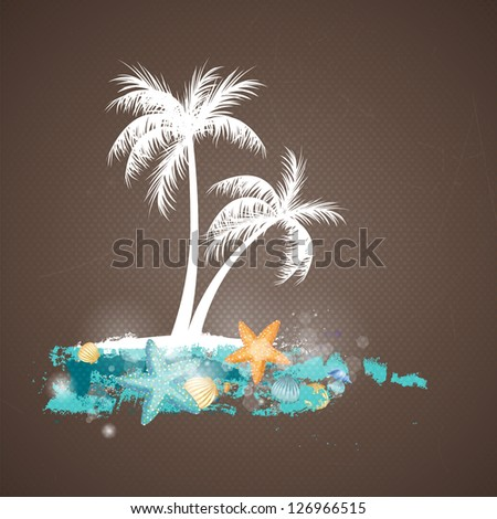 Vector Illustration of a Summer Holiday Background