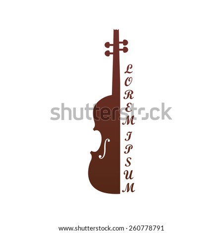 Vector illustration of a symbolic image of violin - stock vector