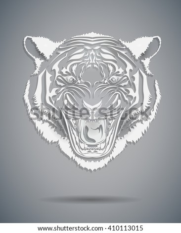 Vector illustration of a tiger head icon