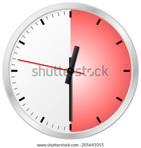vector illustration of a timer with 30 (thirty) minutes - stock vector