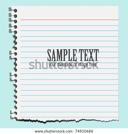 vector illustration of a torn paper background - stock vector