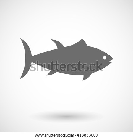 Vector illustration of  a tuna fish