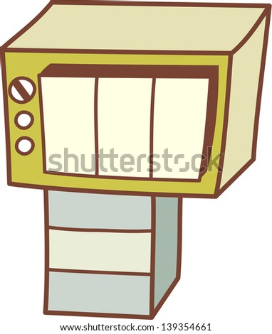 Vector illustration of a Tv