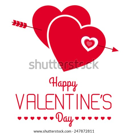 Vector illustration of a Valentine background. - stock vector