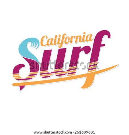 vector illustration of a very best surfer waves beach. california surfing design for graphics for t-shirt, vintage design - stock vector