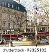Vector illustration of a View of Paris near Palais Royal - stock photo