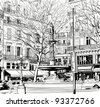Vector illustration of a View of Paris near Palais Royal - stock vector