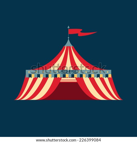 Vector illustration of a vintage circus tent  sc 1 st  Shutterstock & Vector Illustration Vintage Circus Tent Stock Vector 226399084 ...