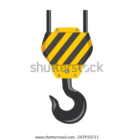 Vector illustration of a web icons - crane hook color