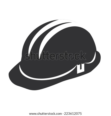 Vector illustration of a web icons - safety helmet, hard hat - stock vector
