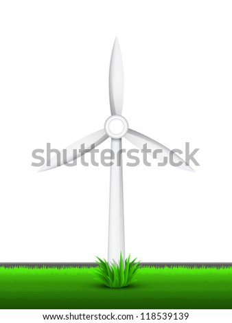 Vector illustration of a wind generator. Part of free energy set. - stock vector