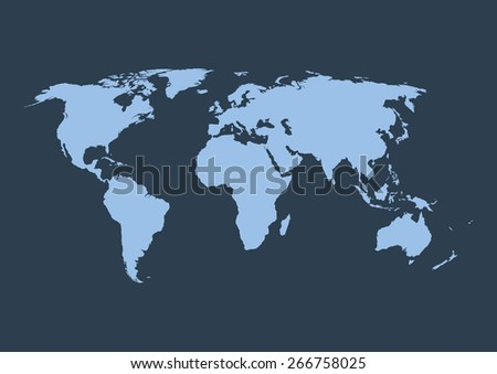 Vector illustration of a world map - stock vector