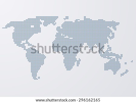 Vector illustration of a world map circles - stock vector