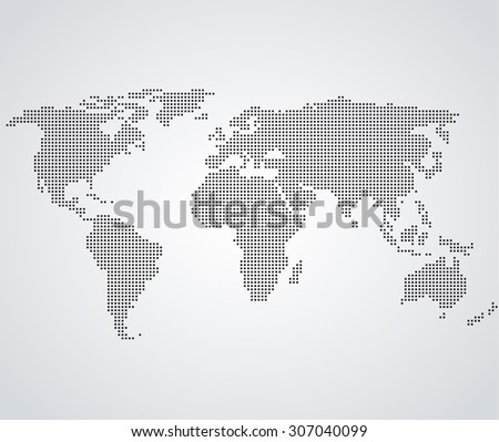 Vector illustration of a world map in the background - stock vector