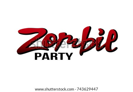 Vector illustration zombie party banner poster stock vector vector illustration of a zombie party for banner poster greeting cards invitation m4hsunfo