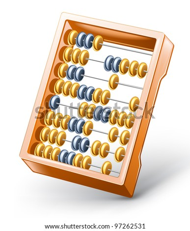 Vector illustration of abacus on white background. - stock vector