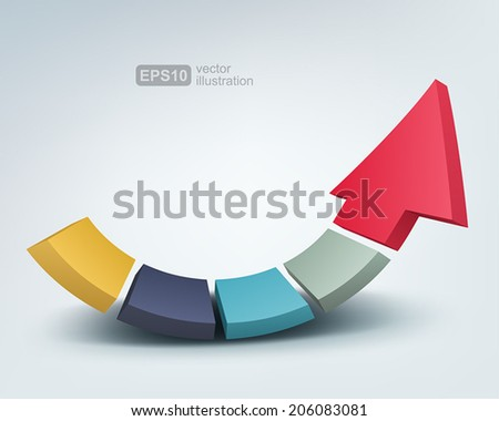 Vector illustration of abstract arrow. - stock vector