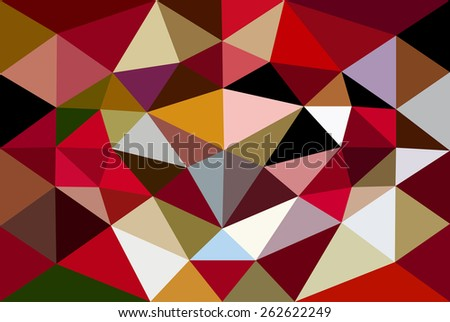 Vector illustration of abstract background for design. Polygonal Mosaic. Triangular low poly style. Template for poster.