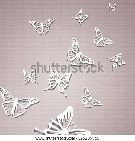 Vector Illustration of Abstract Butterflies