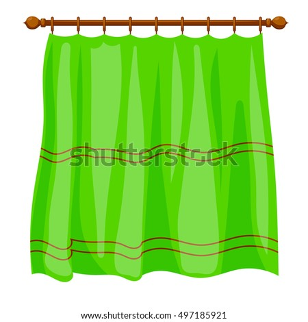Graphic Sketch Drapery Curtain Design Markers Stock