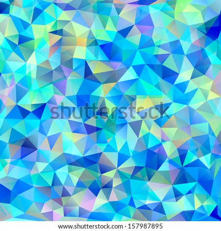 Vector illustration of abstract colorful triangles background - stock vector