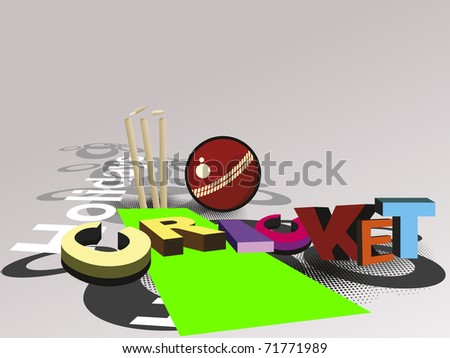 vector illustration of abstract cricket concept background, vector illustration - stock vector