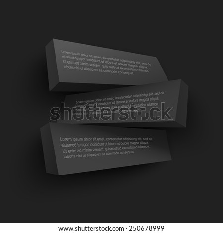 Vector illustration of abstract 3d boards with place for text. Background design for banner, poster, flyer, card, postcard, cover, brochure. - stock vector