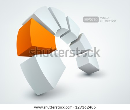 Vector Illustration of abstract 3d shapes, logo design - stock vector